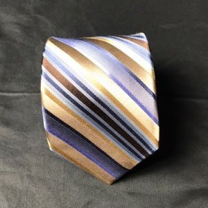 Calvin Klein silk striped multicolored tie